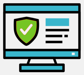 Secure website design icon